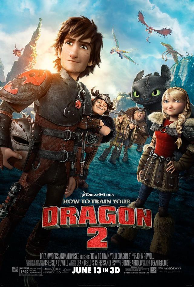Cómo entrenar a tu dragón 2 - poster