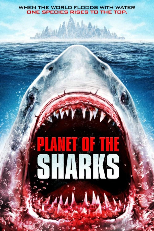 El planeta de los tiburones -poster