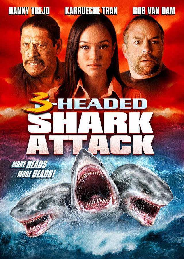El ataque del tiburón de tres cabezas - poster